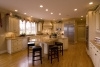 open floor plan, traditional kitchen