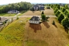 Custom home building lot aerial view