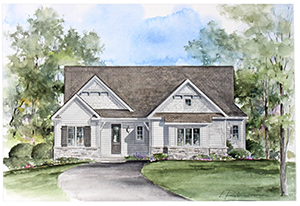 Rendering of a home at Hawkstone Way in Pittsford NY